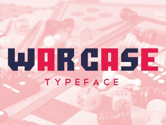 War case typeface